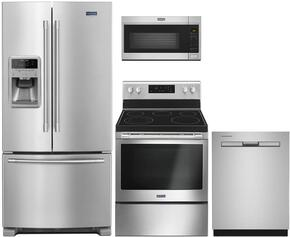 4-Piece Stainless Steel Kitchen Package with MFI2269FRZ 36