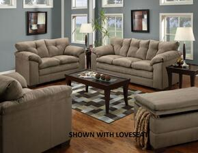 Luna 6565-03015095 3 Piece Set including  Sofa, Chair and a Half and Ottoman  with Tufted Back  in Mineral