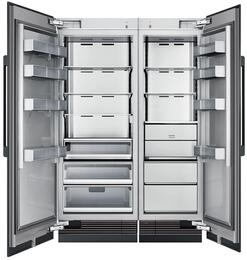 "54"" Panel Ready Side-by-Side Column Refrigerator Set with DRZ24980RAP 24"" Right Hinge Freezer, DRR30980LAP 30"" Left Hinge Refrigerator, and Installation Kit"