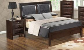 G1525AFBN 2 Piece Set including  Full Size Bed and Nightstand  in Cappuccino
