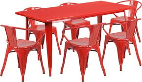 Flash Furniture ETCT005670REDGG