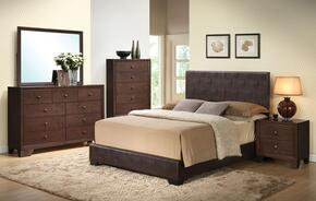 Ireland III Collection 14367EKDMCN Eastern King Size Bed + Dresser + Mirror + Chest + Nightstand in Brown Color