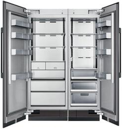 "54"" Panel Ready Side-by-Side Column Refrigerator Set with DRZ30980LAP 30"" Left Hinge Freezer, DRR24980RAP 24"" Right Hinge Refrigerator, and Installation Kit"