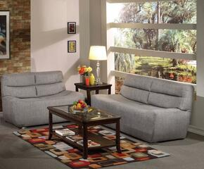 Kainda 51720SL 2 PC Living Room Set with Sofa + Loveseat in Grey Color