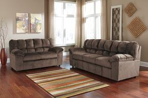 Leilani Collection MI-6862SL-CAFE 2-Piece Living Room Set with Sofa and Loveseat in Cafe