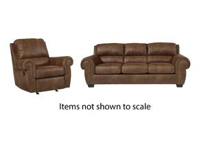 Burnsville Collection 97206SR 2-Piece Living Room Set with Sofa and Recliner in Espresso