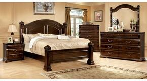 Burleigh Collection CM7791QBDMCN 5-Piece Bedroom Set with Queen Bed, Dresser, Mirror, Chest, and Nightstand in Cherry Finish