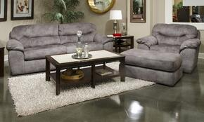 Atlee Collection 44312PCQARMKIT1P 2-Piece Living Room Sets with Sofa Beds, and Living Room Chair in Pewter