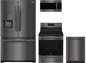 4-Piece Black Stainless Steel Kitchen Package with FGHB2867TD 36
