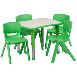 Flash Furniture YUYCY0980034RECTTBLGREENGG