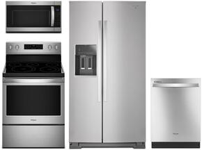 4-Piece Stainless Steel Kitchen Package with WRS586FIEM 36
