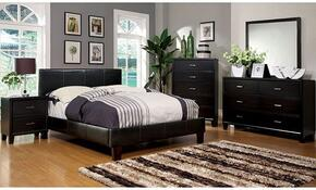 Winn Park Collection CM7008CKBDMCN 5-Piece Bedroom Set with California King Bed, Dresser, Mirror, Chest, and Nightstand in Espresso Color