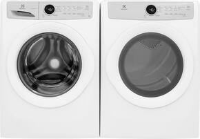"White Front Load Laundry Pair with EFLW317TIW 27"" Washer and EFDE317TIW 27"" Electric Dryer"