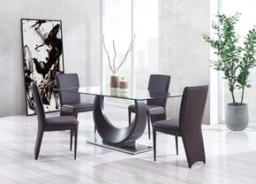 Global Furniture USA D2185DT4D6605DCBROWN