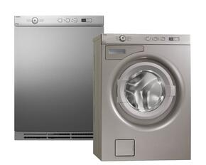 "Titanium Front Load Compact Laundry Pair with W6424T 24"" Washer and T754T 24"" Electric Dryer"