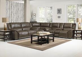 Carmine Collection 4151-8-9-1223-28/3023-28 3-Piece Sectional with Reclining Sofa, Wedge and Reclining Loveseat in Smoke