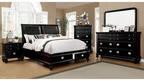 Laguna Hills Collection CM7652LCKSBDMCN 5-Piece Bedroom Set with California King Storage Bed, Dresser, Mirror, Chest and Nightstand in Black Finish