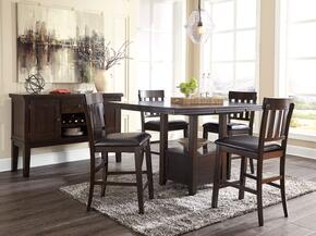 Haddigan Collection D596-6PCRECCH4BRSVKIT1 6-Piece Dining Room Sets with Rectangular Dining Table, 4x Brown 25.88