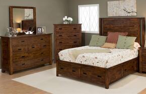 Coolidge Corner Collection 1503KPBDM 3-Piece Bedroom Set with King Bed, Dresser and Mirror in Brown