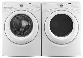 "White Front Load Laundry Pair with WFW75HEFW 27"" Washer and WED75HEFW 27"" Electric Dryer"