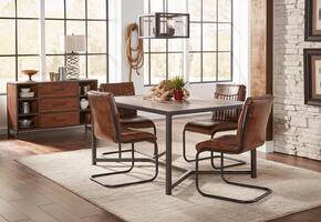 Studio 16 Collection 1661T4CS 6-Piece Dining Room Set with Dining Table, 4 Side Chairs and Server in Brown and Black