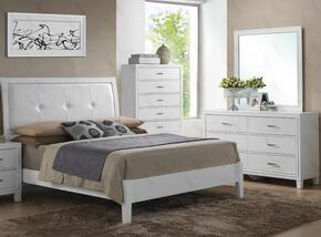 G1275AKBDM 3 Piece Set including King Size Bed, Dresser and Mirror  in White