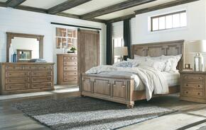 Florence Collection 205170QSET 5 PC Bedroom Set with Queen Size Bed + Dresser + Mirror + Chest + Nightstand in Rustic Smoke Finish