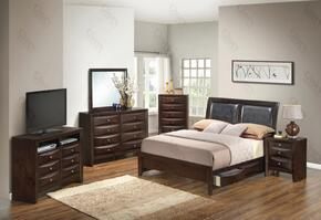 G1525DDTSB2DMNCHTV2 6 Piece including Twin Size Bed, Dresser, Mirror, Nightstand, Chest and Media Chest  in Cappuccino