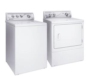 White Top Load Laundry Pair with AWN432S 26' Washer and ADG4BRG 27