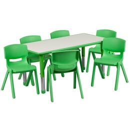 Flash Furniture YUYCY0600036RECTTBLGREENGG