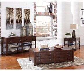Home Accents Collection 720398SET 3 PC Living Room Table Sets with Coffee Table + End Table + Sofa Table in Vintage Cocoa Finish