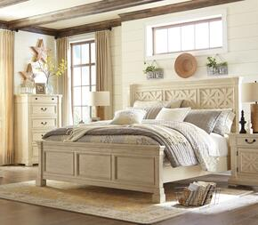 Bolanburg Queen Bedroom Set with Lattice Panel Bed, and Nightstand in Antique White