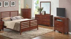 G1200CTB2DMTV 4 Piece Set including Twin  Bed, Dresser, Mirror amd Media Chest in Cherry