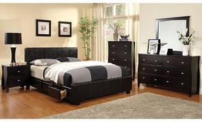 Burlington Collection CM7009KSBDMCN 5-Piece Bedroom Set with King Storage Bed, Dresser, Mirror, Chest, and Nightstand in Espresso Finish