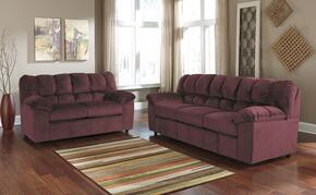 Julson 26602SL 2-Piece Living Room Set with Sofa and Loveseat in Burgundy