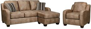 Alturo 60003SC 2-Piece Living Room Set with Sofa Chaise and Armchair in Dune