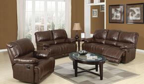 Daishiro 50745SLR 3 PC Living Room Set with Sofa + Loveseat + Recliner in Chestnut Color