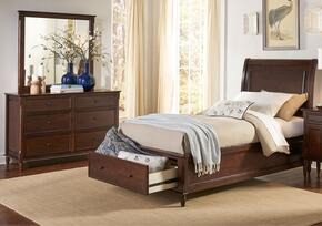 Avignon Youth Collection 1619TPBDM 3-Piece Bedroom Set with Twin Storage Bed, Dresser and Mirror in Birch Cherry