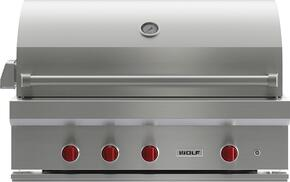 "OGCART42 42"" Gas Grill with Cart, 3 Individually Contained Grill Burners, 2-Position Infrared Rotisserie, Infrared Sear Zone, LED-lit Control Knobs and Stainless Steel Construction: Natural gas"