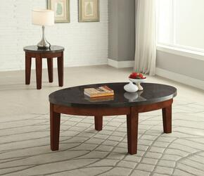 Faymoor 81745CE 2 PC Living Room Table Set with Coffee Table + End Table in Walnut Finish