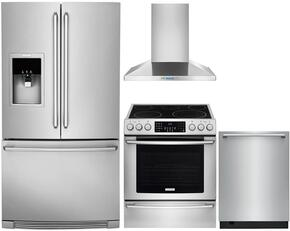 "3-Piece Stainless Steel Kitchen Package with EI30EF45QS 30"" Electric Range, RH30WC60GS 30"" Wall Mount Chimney Hood and EI24ID50QS 24"" Fully Integrated Dishwasher"
