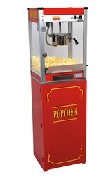 1108110  Theater Pop Poppers 8-Oz. Popcorn Machine with Built-In Warming Deck in Theater Red Finish and Popcorn Stand