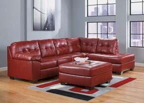 Alliston 20100-08-17-66 2-Piece Living Room Set with Right Chaise Sectional Sofa and Ottoman in Salsa