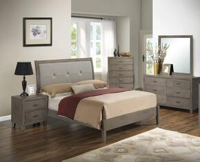 G1205AFBDMN 4 Piece Set including Full Bed, Dresser, Mirror and Nightstand  in Grey