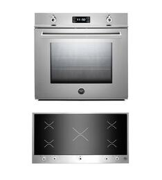 "Professional 2-Piece Stainless Steel Kitchen Package with F30PROXE 30"" Single Electric Wall Oven and PM360IGX 36"" Electric Cooktop"