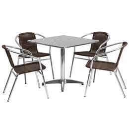 Flash Furniture TLHALUM32SQ020CHR4GG