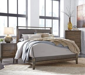 Larsen Collection California King Bedroom Set with Panel Bed, and Nightstand in Brown