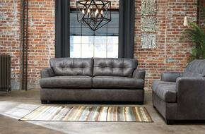 Inmon Collection 65807SL 2-Piece Living Room Set with Sofa and Loveseat in Charcoal