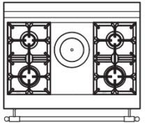 90 US C2 Cooktop Configuration wi...