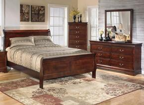 Alisdair Queen Bedroom Set with Sleigh Bed, Dresser and Mirror in Dark Brown